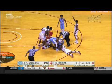 (NCAAM) #3 UNC Tar Heels at #13 Indiana Hoosiers in 20 Minutes - 11/30/16
