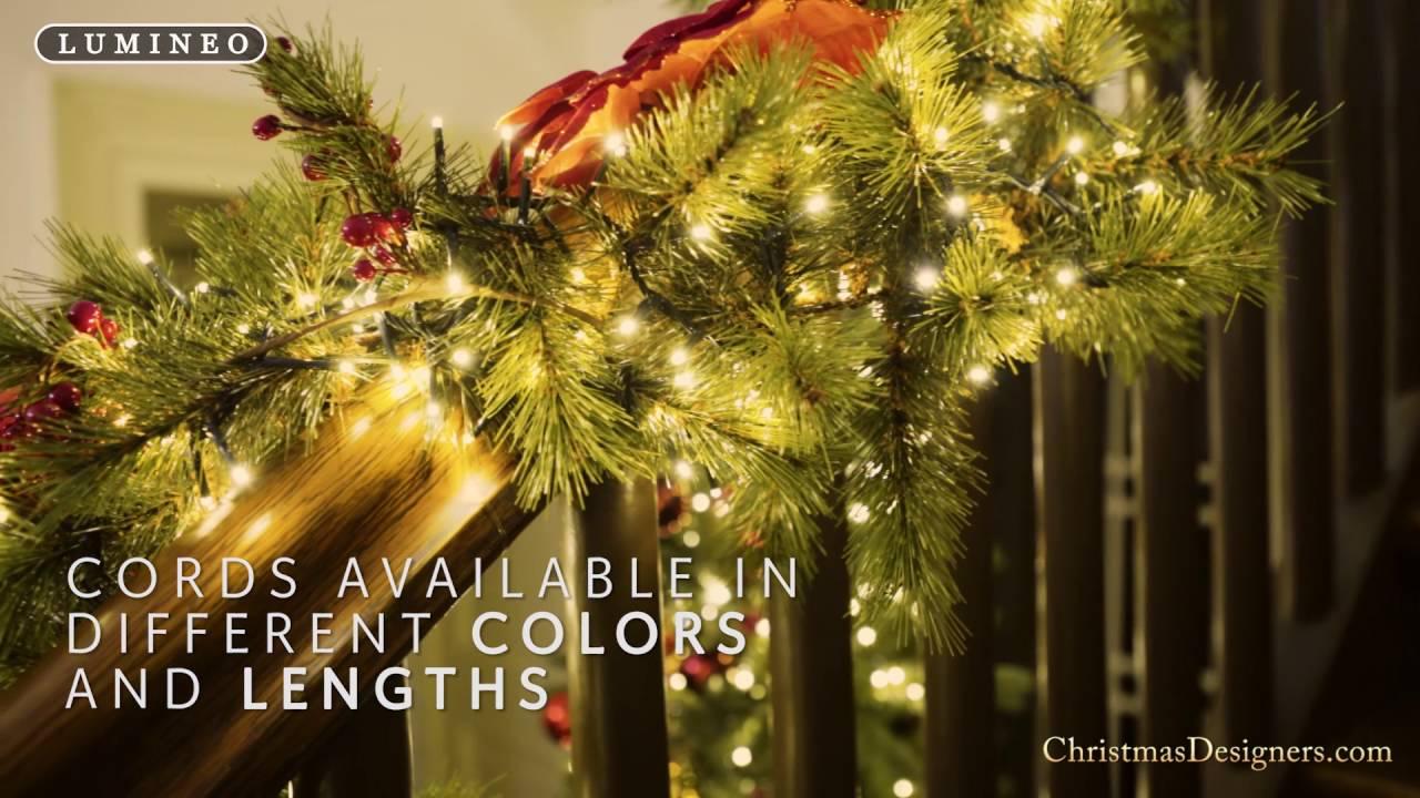 Christmas Designers.Led Compact Light Set 1500 Bulbs Green Cord Multi
