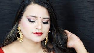 शादी में मेकअप कैसे करें/ Indian Wedding Guest Makeup tutorial hindi