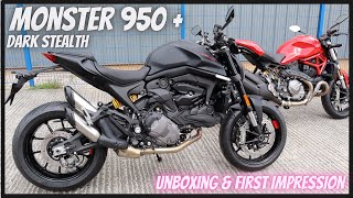 New 2021 Ducati Monster 950 + Dark Stealth Unboxing & first look