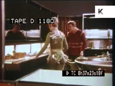 1960s American Home of Tomorrow, Retro Futuristic Kitchen De