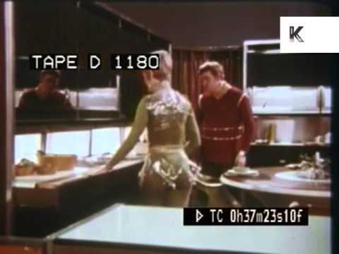 1960s American Home Of Tomorrow Retro Futuristic Kitchen Design Gadgets YouTube