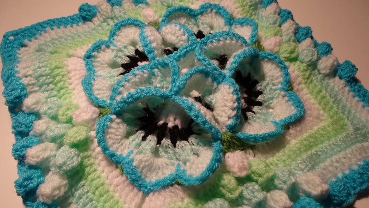 Crochet Flower 3d Granny Square Youtube