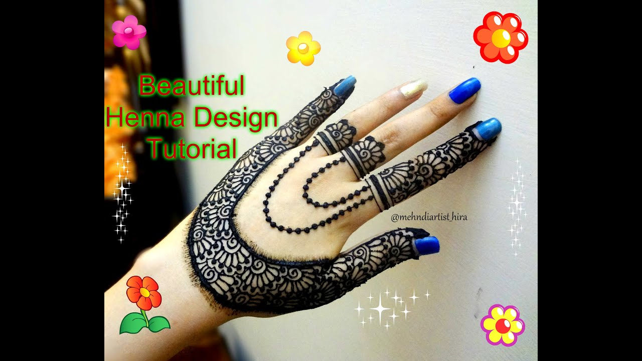 Mehndi design 2017 eid - How To Apply Easy Simple Beautiful Stylish Henna Mehndi Designs For Hands Tutorial Eid 2017