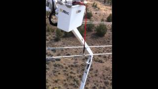 Grounding Induction on a 500KV Power Line