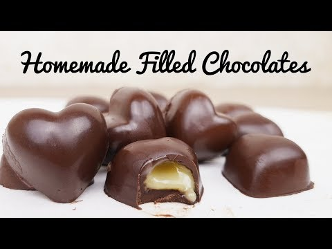 Homemade Filled Chocolates | Filled Chocolates recipe | Easy (Valentine's Day dessert) Mp3