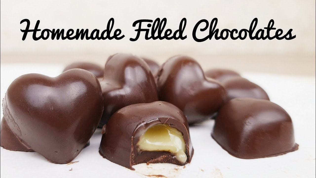 Homemade Filled Chocolates Filled Chocolates Recipe Easy