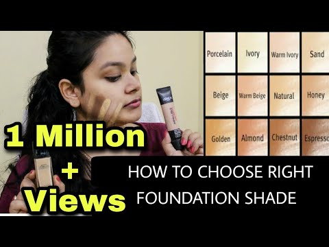 HOW TO CHOOSE THE RIGHT SHADE OF FOUNDATION | BEGINNER'S Guide To Choose Right Foundation