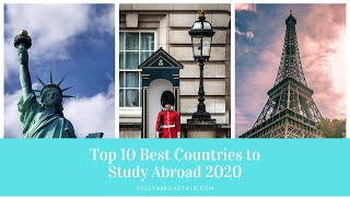 Top 10 Best Countries to Study Abroad 2020