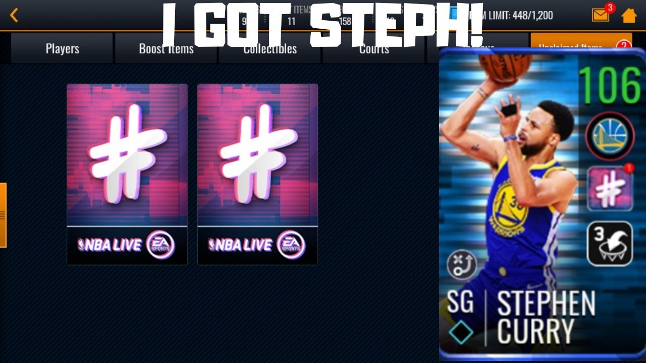check out 8a620 e2377 I GOT STEPH!!!105 STEPH CURRY PACK OPENING IN NBA LIVE MOBILE 19!!!