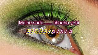 Gulabi aankhen jo teri - The train - karaoke - Highlighted Lyrics