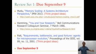 Module 0.4 - First Assignments - 740: Computer Architecture 2013 - Carnegie Mellon - Onur Mutlu Mp3