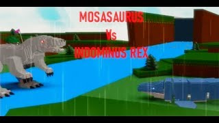 🏆MOSASAURUS vs INDOMINUS REX! *EPIC BATTLE*🏆| Roblox Build a Boat