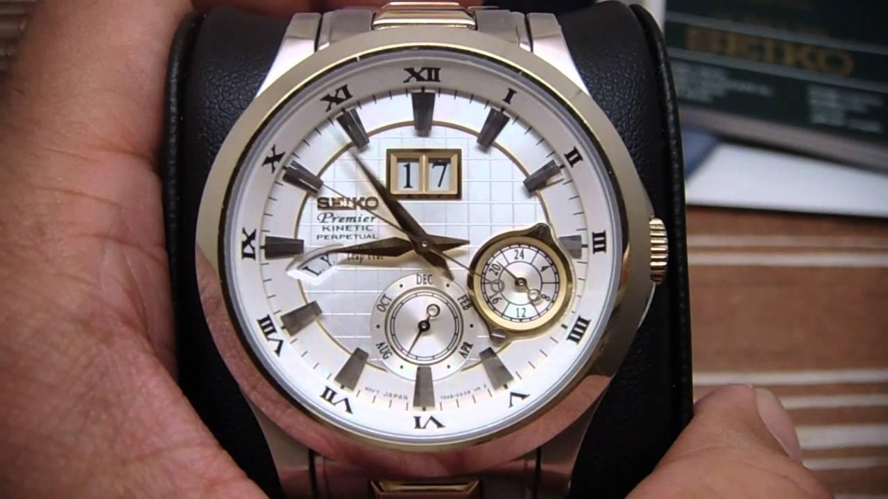 Perpetual Calendar Watch >> Seiko Premier Kinetic Perpetual Watch - YouTube