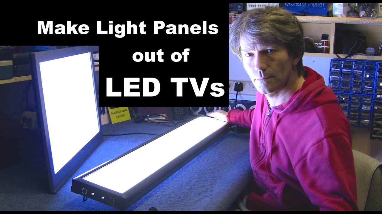 Make a super bright Light Box from LED TV for photography ...