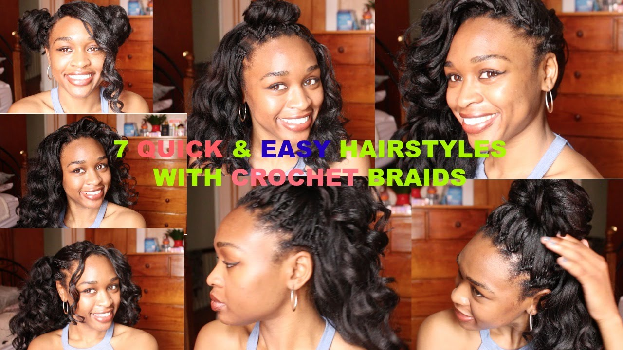 7 Ways To Style Your Crochet Braids Ocean Wave Kanekalon Hair