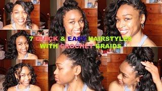 7 Ways I Style Crochet Braids| Ocean Wave Kanekalon Hair