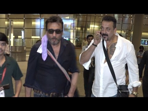 Airport Spotting 2nd August 2016   Sanjay Dutt, Jackie ...