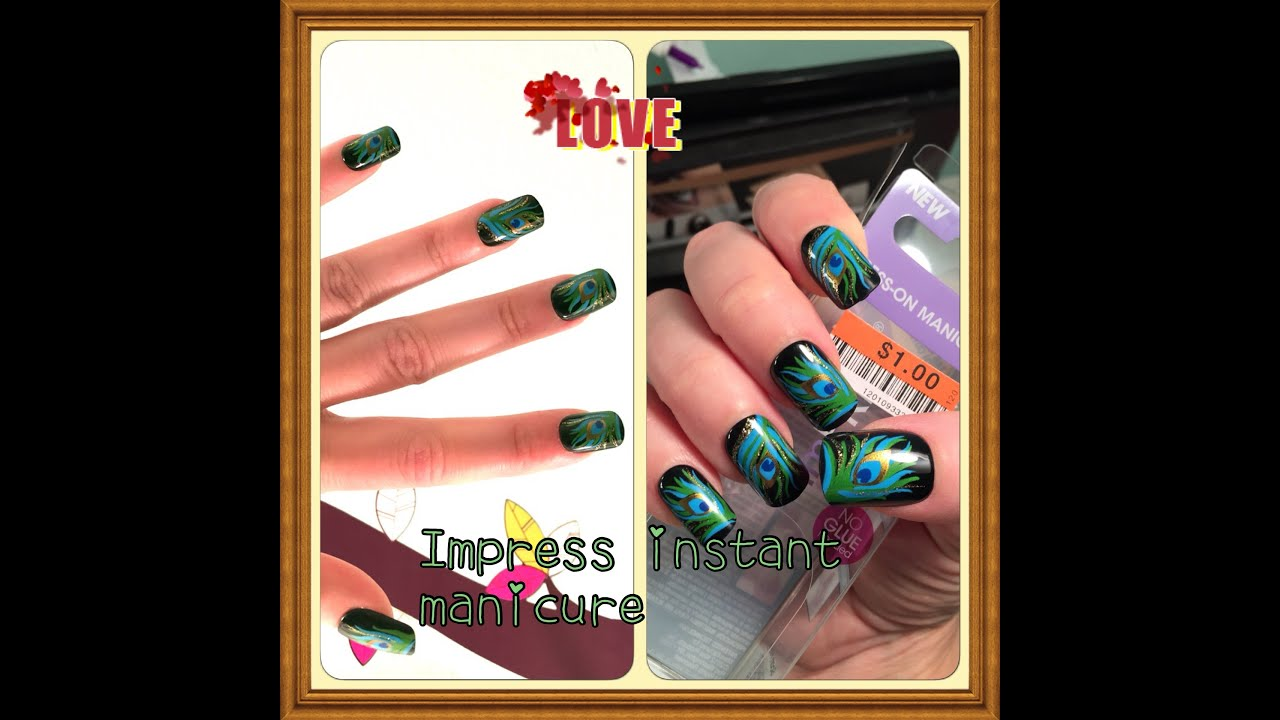 Broadway Nails Impress Press on Nails Instant Manicure Review - YouTube
