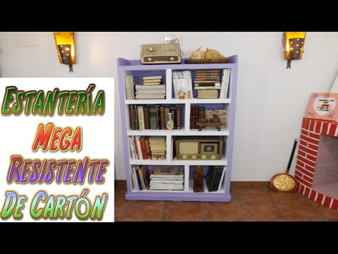 Diy estanter a hecha con cart n para libros tutoriales - Cocinas hechas a mano ...