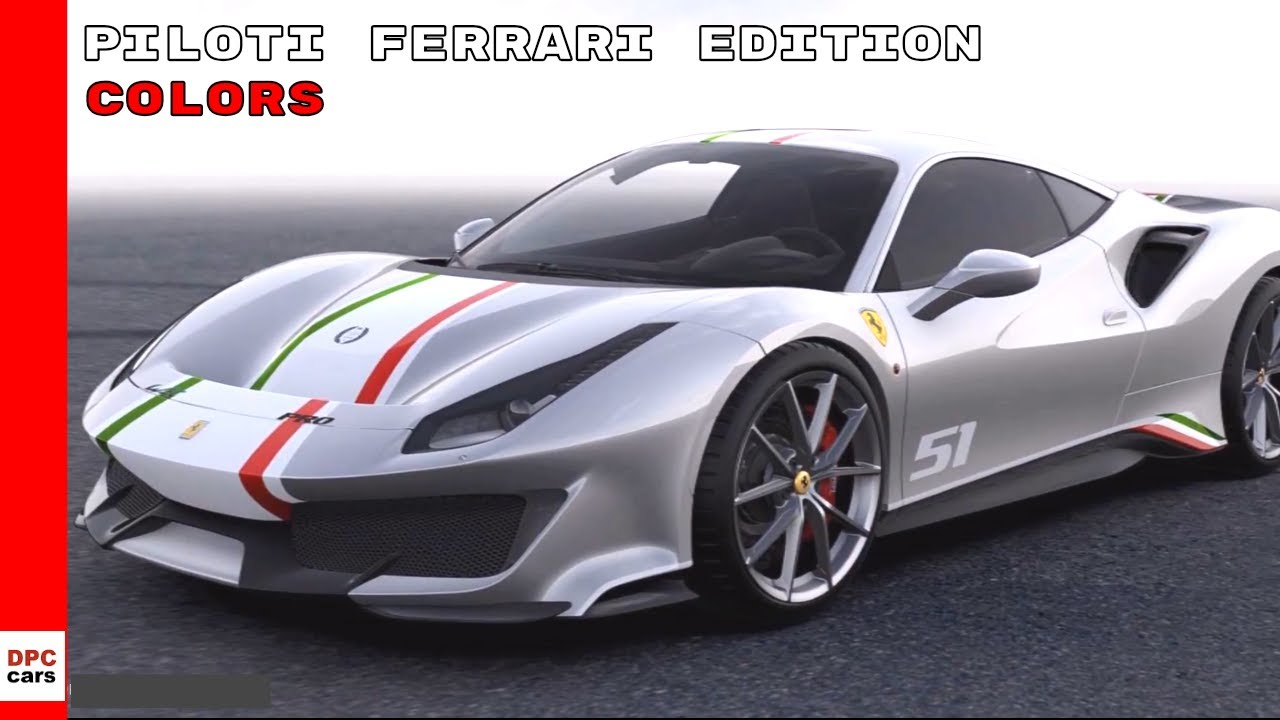 Ferrari 488 Pista Piloti Ferrari Edition Colors Youtube