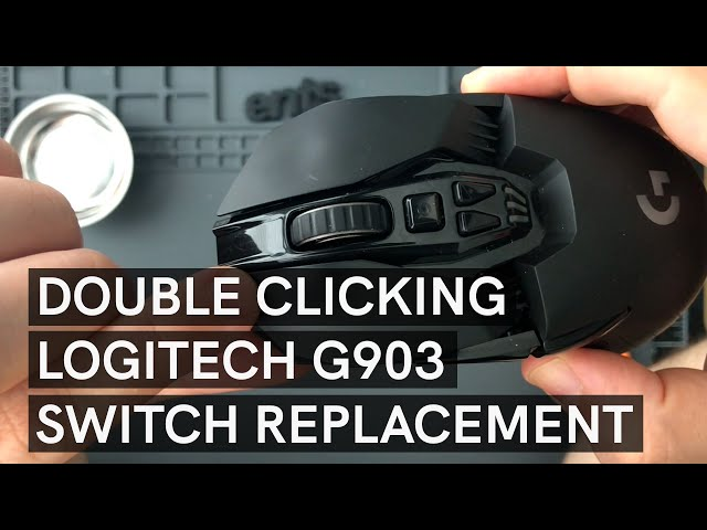 Double clicking Logitech G903 Switch Replacement – Full guide, no cuts! Most annoying mouse to open