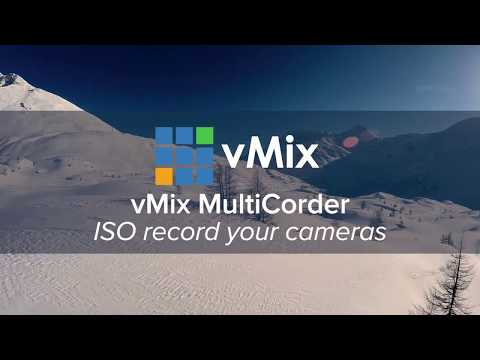 ISO recording your live productions with vMix MultiCorder.