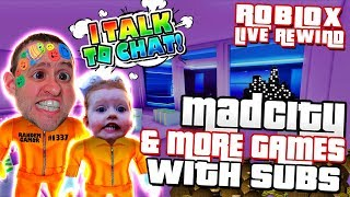 MAD CITY & MORE GAMES with SUBS | Road to 4000 ► Roblox Comedy PRO PC 🔴 Live Rewind
