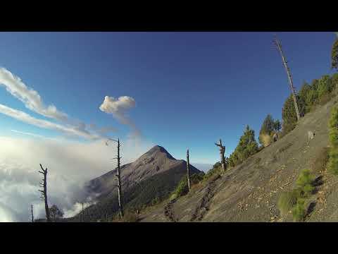 Phonography : Eruption of the Fuego volcano, Base Camp, Guatemala (14.495716, -90.872057)