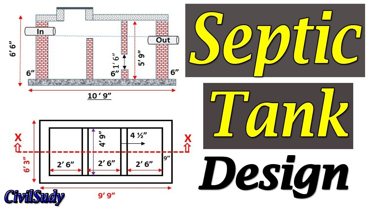 Septic Tank Design Septic Tank Construction How To