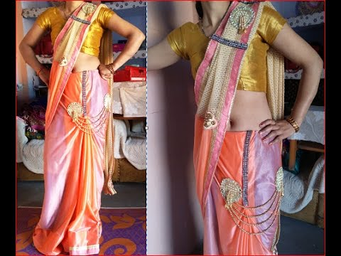 LEHANGA SARI making from a sari very amazing and easy way DIY