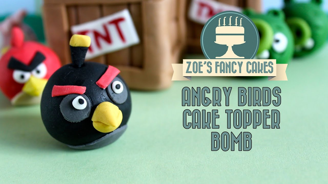 Angry birds cake How to make a fondant angry birds bomb cake topper