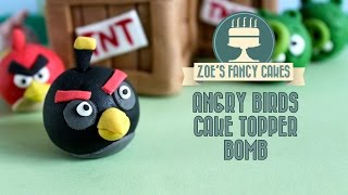 Video Angry birds cake: How to make a fondant angry birds bomb cake topper download MP3, 3GP, MP4, WEBM, AVI, FLV Juni 2018