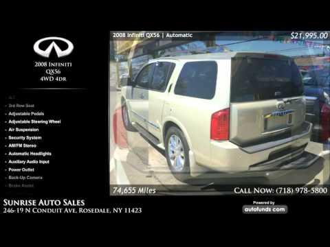 Used 2008 Infiniti QX56 | Sunrise Auto Sales, Rosedale, NY