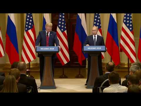 "Standing next to Russian President Vladimir Putin in Helsinki, U.S. President Donald Trump called the Mueller investigation a ""disaster for our country."" Adding, ""there was no collusion"" between Russia and his 2016 campaign.  (The Associated Press)"