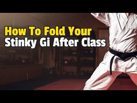 How To Fold Your Stinky Judo/Karate/BJJ/Jiu-Jitsu/Martial Arts Gi After and Before Class