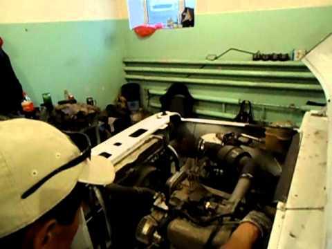UAZ with Toyota 6 cylinder engine (test start)