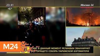 Смотреть видео Собор Парижской Богоматери загорелся во Франции - Москва 24 онлайн