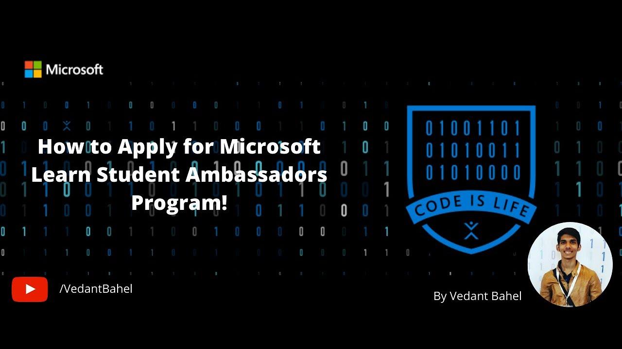 How to Apply for Microsoft Learn Student Ambassador Program aka Microsoft Student Partner - YouTube