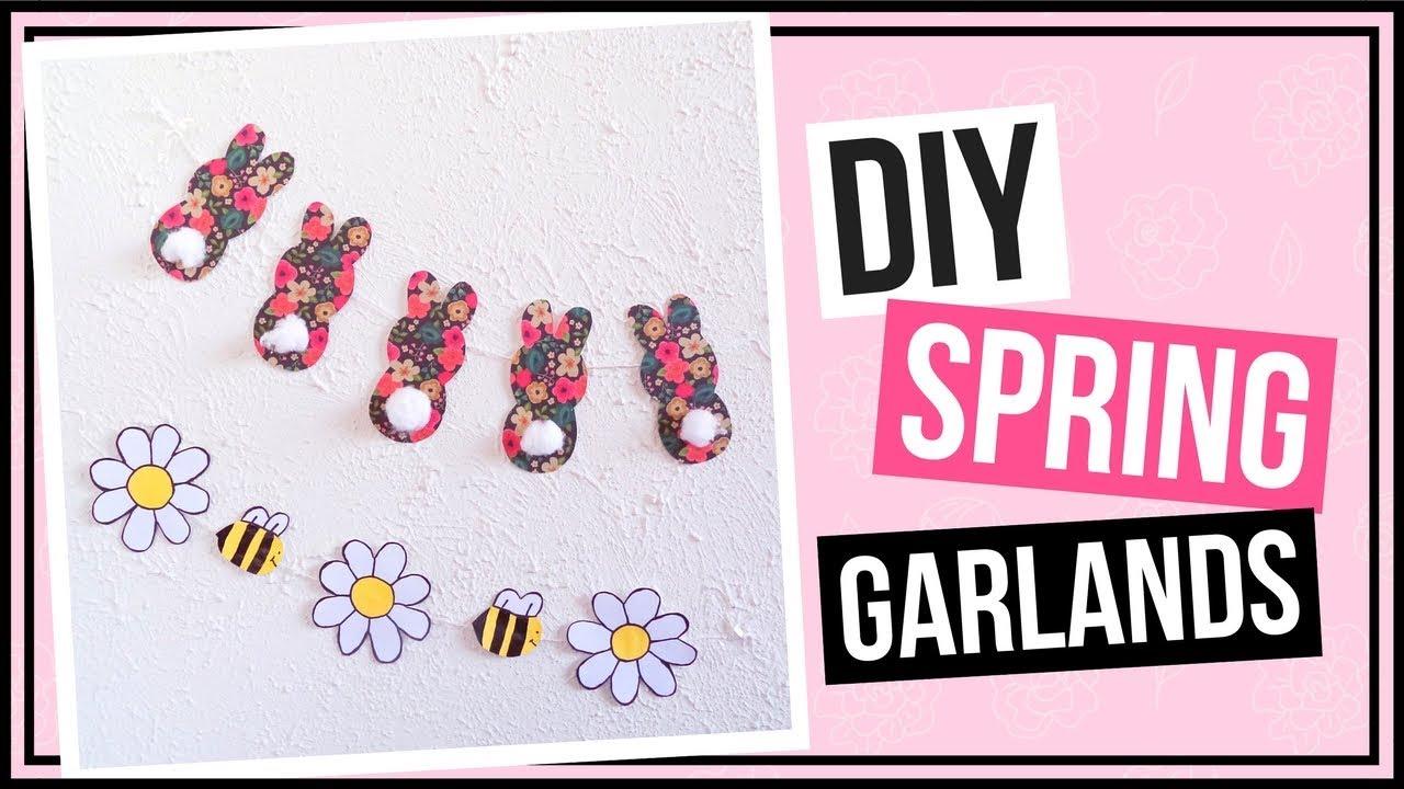 2 Easy Diy Spring Garlands Diy Wall Decor Ideas For Spring Diy