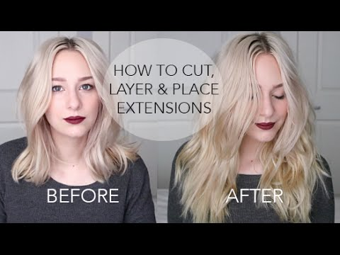 how to style hair extensions how to cut amp layer extensions placement for medium 2999