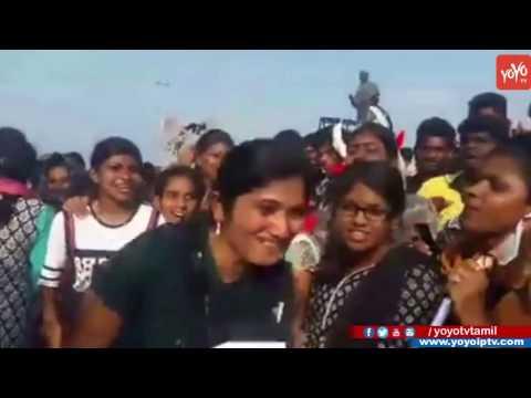 Girls Made Funny Slogans For Jallikattu Protest In Chennai Marina To Allow Jallikattu | YOYOTV Tamil thumbnail