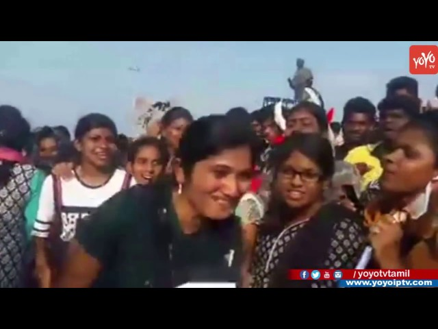 Girls Made Funny Slogans For Jallikattu Protest In Chennai Marina To Allow Jallikattu | YOYOTV Tamil