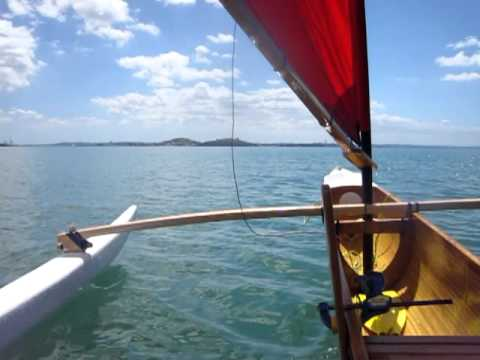 Ulua Outrigger canoe, first sail