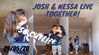 Josh Richards & Nessa Barrett full TikTok live stream together *CUTE*