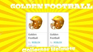 Roblox Updated These Football Helmets To GOLDEN Collector Helmets inventory!