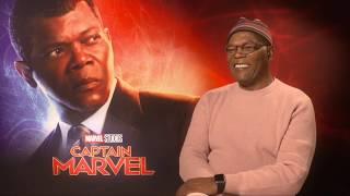 """Captain Marvel"" - Samuel L. Jackson on Nick Fury & Goose the Cat"