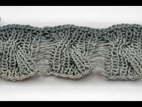 How To Knit Cable With Drop Stitches Knitting Stitch