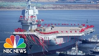 China Launches Its First Homebuilt Aircraft Carrier Based On Old Soviet Design | NBC News
