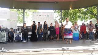 SF INDIAN MARKET 2019  - TRADITIONAL NATIVE AMERICAN CLOTHING CONTEST  -  Contemporary inspired - B